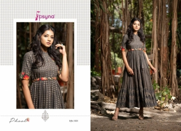 PSYNA PRESENTS PHOOL COTTON PRINTED GOWN STYLE KURTI WHOLESALE PRICE (14) JPG