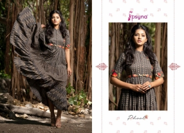 PSYNA PRESENTS PHOOL COTTON PRINTED GOWN STYLE KURTI WHOLESALE PRICE (2) JPG