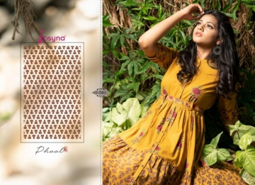 PSYNA PRESENTS PHOOL COTTON PRINTED GOWN STYLE KURTI WHOLESALE PRICE (3) JPG