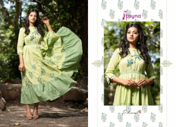 PSYNA PRESENTS PHOOL COTTON PRINTED GOWN STYLE KURTI WHOLESALE PRICE (4) JPG