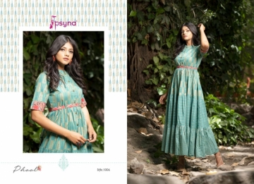 PSYNA PRESENTS PHOOL COTTON PRINTED GOWN STYLE KURTI WHOLESALE PRICE (5) JPG