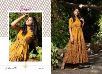 PSYNA PRESENTS PHOOL COTTON PRINTED GOWN STYLE KURTI WHOLESALE PRICE (6) JPG