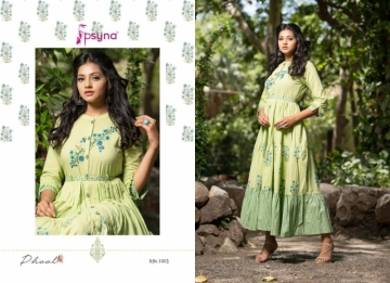 PSYNA PRESENTS PHOOL COTTON PRINTED GOWN STYLE KURTI WHOLESALE PRICE (7) JPG