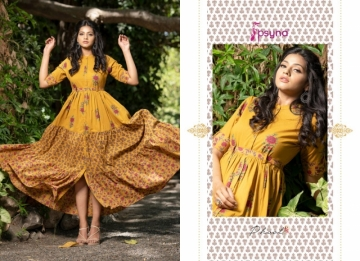 PSYNA PRESENTS PHOOL COTTON PRINTED GOWN STYLE KURTI WHOLESALE PRICE (8) JPG