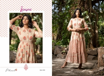 PSYNA PRESENTS PHOOL COTTON PRINTED GOWN STYLE KURTI WHOLESALE PRICE (9) JPG