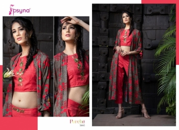 Psyna-Launching-Porche-Vol-3-Shrug-Catalogue-With-Different-Bottoms-Palazzo-Pant-Skirt-Collection-2