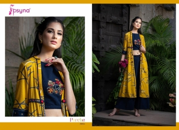 Psyna-Launching-Porche-Vol-3-Shrug-Catalogue-With-Different-Bottoms-Palazzo-Pant-Skirt-Collection-3