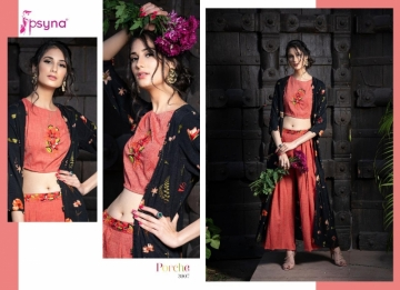 Psyna-Launching-Porche-Vol-3-Shrug-Catalogue-With-Different-Bottoms-Palazzo-Pant-Skirt-Collection-5