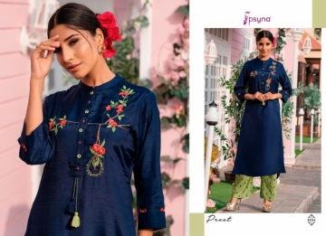PSYNA PRESENTS PREET VOL-6 VISCOSE SILK KURTI WITH BOTTOM (3) JPG