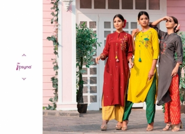 PSYNA PRESENTS PREET VOL-6 VISCOSE SILK KURTI WITH BOTTOM (5) JPG