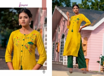 PSYNA PRESENTS PREET VOL-6 VISCOSE SILK KURTI WITH BOTTOM (10) JPG