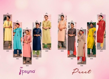 PSYNA PRESENTS PREET VOL-6 VISCOSE SILK KURTI WITH BOTTOM (14) JPG