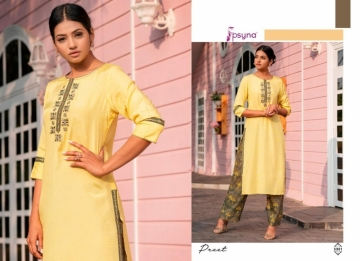 PSYNA PRESENTS PREET VOL-6 VISCOSE SILK KURTI WITH BOTTOM (2) JPG