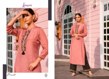 PSYNA PRESENTS PREET VOL-6 VISCOSE SILK KURTI WITH BOTTOM (4) JPG