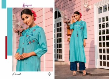 PSYNA PRESENTS PREET VOL-6 VISCOSE SILK KURTI WITH BOTTOM (6) JPG