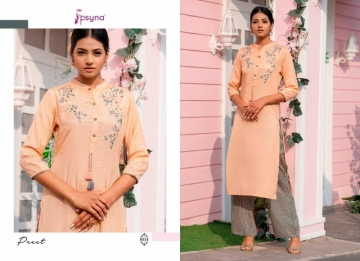 PSYNA PRESENTS PREET VOL-6 VISCOSE SILK KURTI WITH BOTTOM (8) JPG