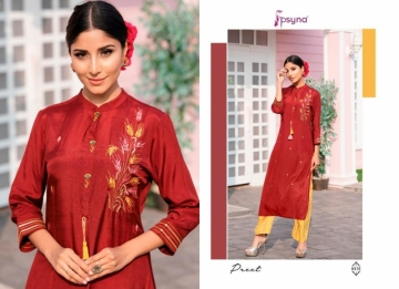 PSYNA PRESENTS PREET VOL-6 VISCOSE SILK KURTI WITH BOTTOM (9) JPG