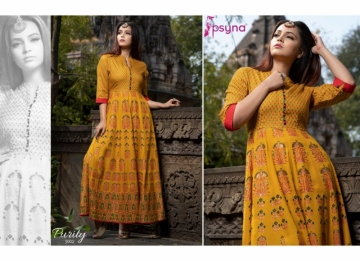 PSYNA PRESENTS PURITY VOL-3 RAYON PRINTED GOWN STYLE KURTI (2) JPG