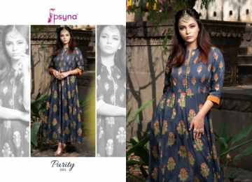 PSYNA PRESENTS PURITY VOL-3 RAYON PRINTED GOWN STYLE KURTI (4) JPG