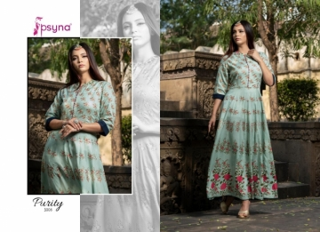 PSYNA PRESENTS PURITY VOL-3 RAYON PRINTED GOWN STYLE KURTI (5) JPG