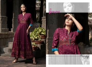 PSYNA PRESENTS PURITY VOL-3 RAYON PRINTED GOWN STYLE KURTI (6) JPG