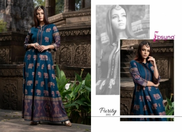 PSYNA PRESENTS PURITY VOL-3 RAYON PRINTED GOWN STYLE KURTI (7) JPG