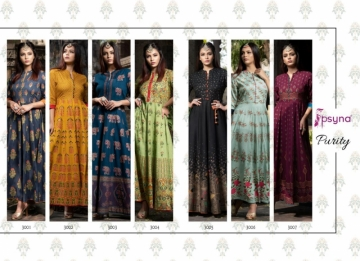 PSYNA PRESENTS PURITY VOL-3 RAYON PRINTED GOWN STYLE KURTI (8) JPG