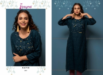 PSYNA PRESENTS RAPID VOL-03 RAYON PRINTED CASUAL WEAR KURTI (10) JPG