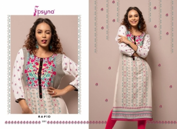 PSYNA PRESENTS RAPID VOL-03 RAYON PRINTED CASUAL WEAR KURTI (3) JPG