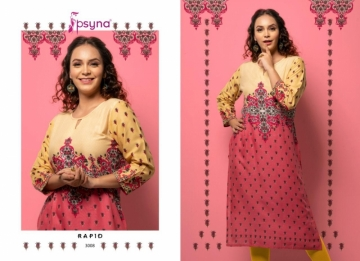 PSYNA PRESENTS RAPID VOL-03 RAYON PRINTED CASUAL WEAR KURTI (7) JPG