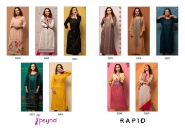 PSYNA PRESENTS RAPID VOL-03 RAYON PRINTED CASUAL WEAR KURTI (9) JPG