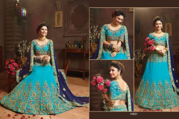 RIDDHOO FASHION DESIGNER WEDDING GEORGETTE EMBROIDERED LEHENGAS WHOLESALE PRICE (1)JPG
