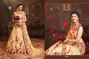 RIDDHOO FASHION DESIGNER WEDDING GEORGETTE EMBROIDERED LEHENGAS WHOLESALE PRICE (5)JPG