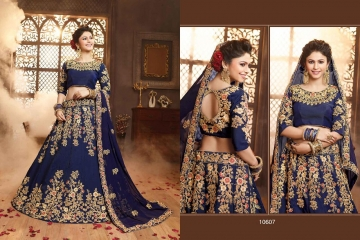 RIDDHOO FASHION DESIGNER WEDDING GEORGETTE EMBROIDERED LEHENGAS WHOLESALE PRICE (7)JPG
