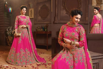 RIDDHOO FASHION DESIGNER WEDDING GEORGETTE EMBROIDERED LEHENGAS WHOLESALE PRICE (8)JPG