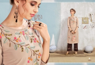 S-MORE FASHION PRESENTS WINDOW MUSLIN KURTI WITH PANT  (01) JPG
