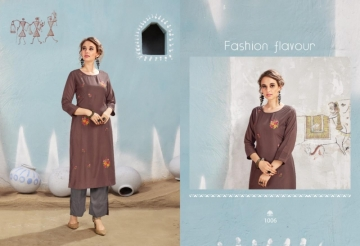 S-MORE FASHION PRESENTS WINDOW MUSLIN KURTI WITH PANT  (9) JPG