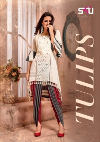 S4U LATEST TULIPS FANCY DESIGNER KURTI WITH PANT WHOLESALE PRICE(01)JPG