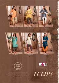 S4U LATEST TULIPS FANCY DESIGNER KURTI WITH PANT WHOLESALE PRICE(8)JPG