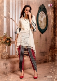 S4U LATEST TULIPS FANCY DESIGNER KURTI WITH PANT WHOLESALE PRICE(2)JPG