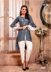 S4U LATEST TULIPS FANCY DESIGNER KURTI WITH PANT WHOLESALE PRICE(5)JPG