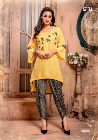 S4U LATEST TULIPS FANCY DESIGNER KURTI WITH PANT WHOLESALE PRICE(6)JPG