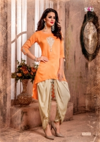 S4U LATEST TULIPS FANCY DESIGNER KURTI WITH PANT WHOLESALE PRICE(7)JPG
