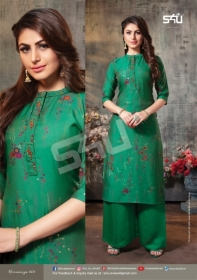 S4U SHIVALI WAMANIYA VOL-14 COTTON SILK KURTI WITH PALAZZO (3) JPG