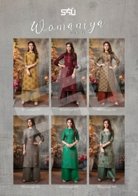 S4U SHIVALI WAMANIYA VOL-14 COTTON SILK KURTI WITH PALAZZO (8) JPG