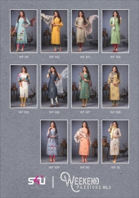 S4U SHIVALI WEEKEND PASSION VOL 3 STOLES WITH EMBROIDERED KURTIS WHOLESALE PRICE(12)JPG