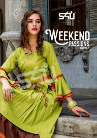 S4U WEEKEND PASSIONS VOL-04 FANCY STYLISH COLOURFUL KURTIS(01)jpg