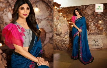 SANSKAR PRESENTS SHILPA VOL-7 SILK DESIGNER FANCY WEAR SAREES (14) JPG