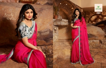 SANSKAR PRESENTS SHILPA VOL-7 SILK DESIGNER FANCY WEAR SAREES (15) JPG
