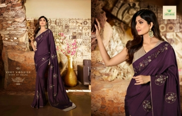 SANSKAR PRESENTS SHILPA VOL-7 SILK DESIGNER FANCY WEAR SAREES (8) JPG